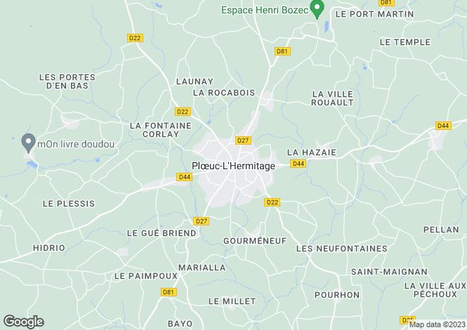 Map for ploeuc-sur-lie, Côtes-d'Armor, France