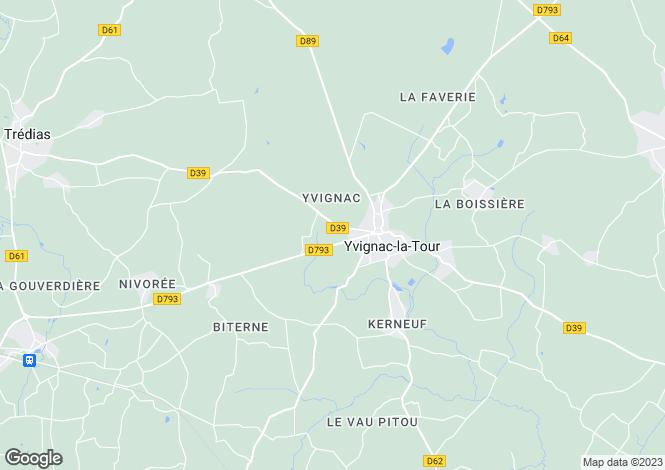 Map for Yvignac La Tour, Bretagne, 22350, France