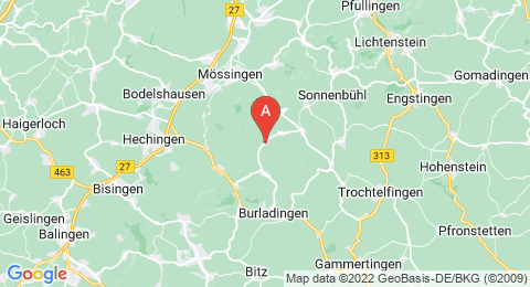 map of Kornbühl (Germany)