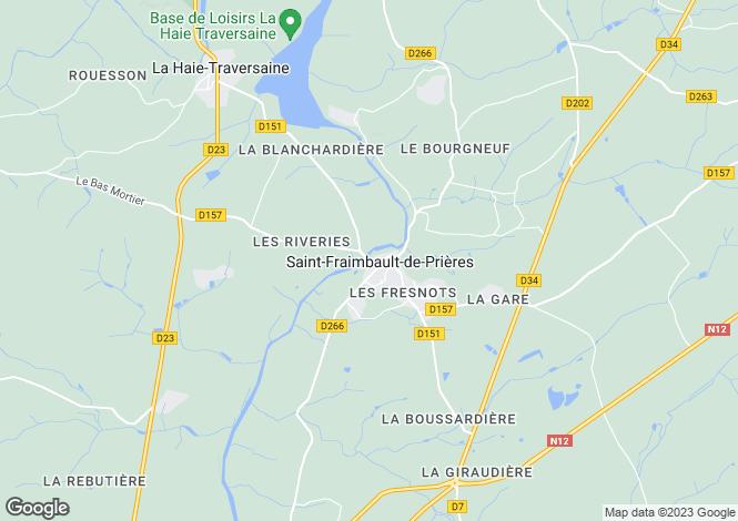 Map for Pays de la Loire, Mayenne, St-Fraimbault-de-Prières