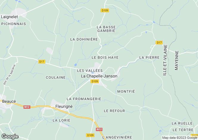 Map for La Chapelle-Janson, Ille-et-Vilaine, 35133, France
