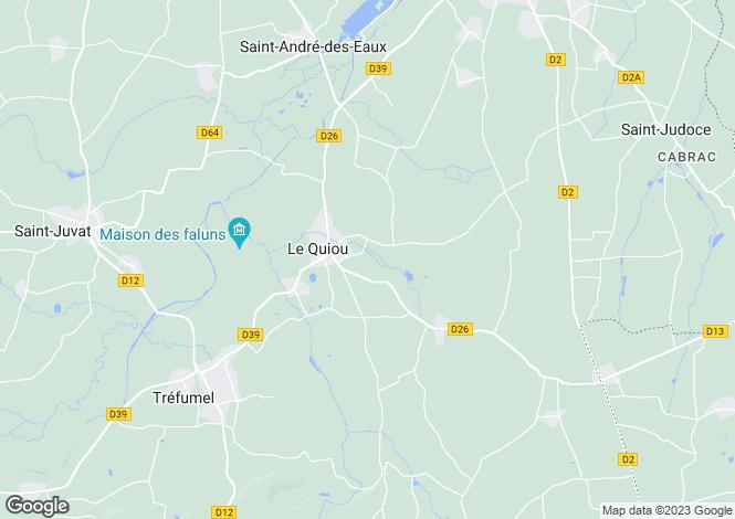 Map for Brittany, Côtes-d'Armor, Le Quiou