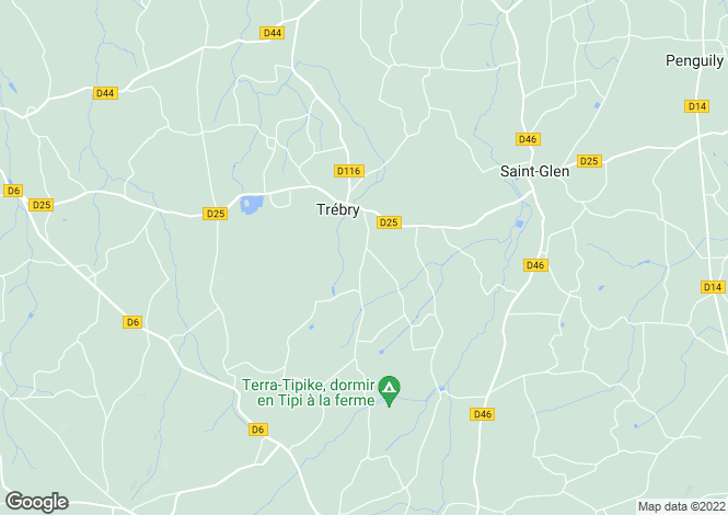 Map for trebry, Côtes-d'Armor, France