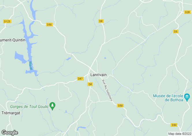 Map for Lanrivain ,Brittany ,France
