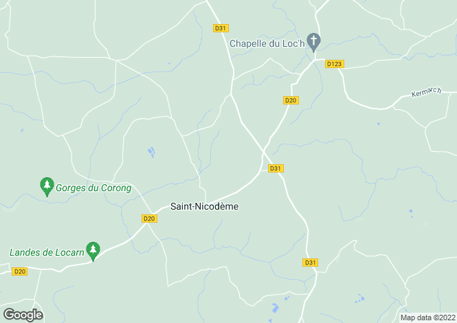 Map for Saint-Nicodème ,Brittany ,France