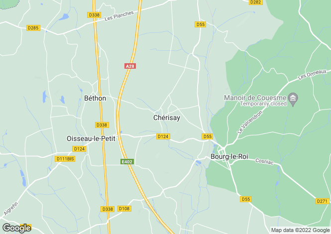 Map for cherisay, , France