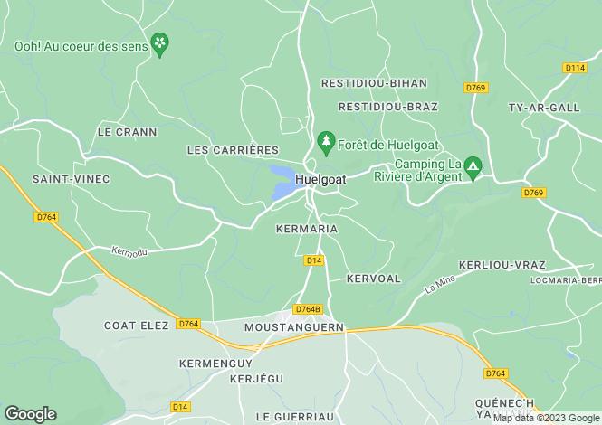 Map for Huelgoat, Finistere