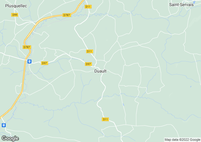 Map for Brittany, Côtes-d'Armor, Duault