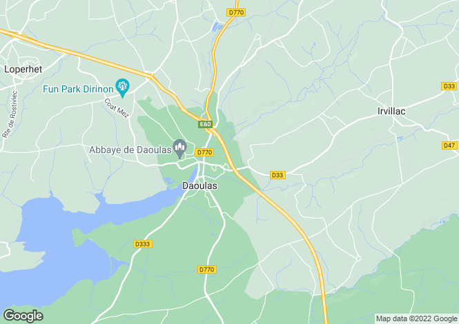 Map for DAOULAS, Bretagne