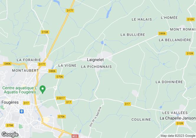 Map for Laignelet, Ille-et-Vilaine, 35133, France