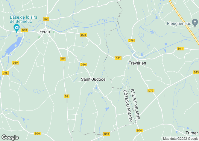 Map for Saint Judoce, Bretagne, 22630, France