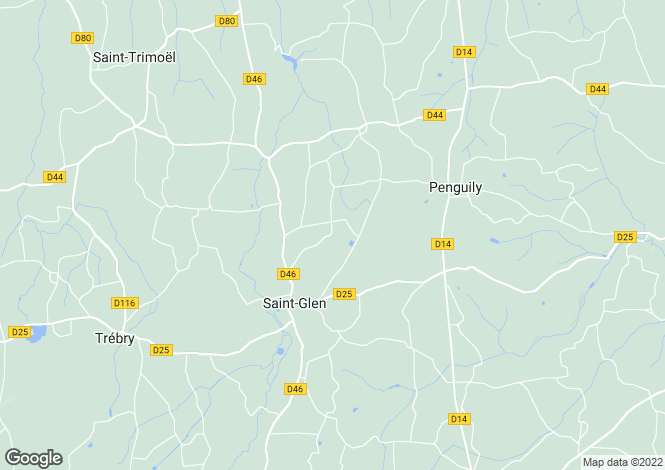 Map for Brittany, Côtes-d'Armor, St-Glen