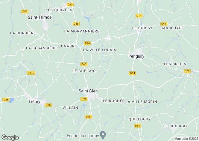 Map for st-glen, Côtes-d'Armor, France