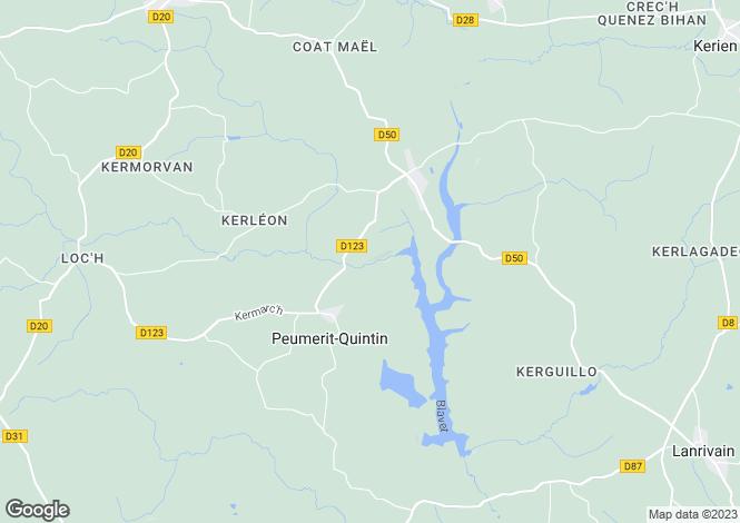 Map for peumerit-quintin, Côtes-d'Armor, France