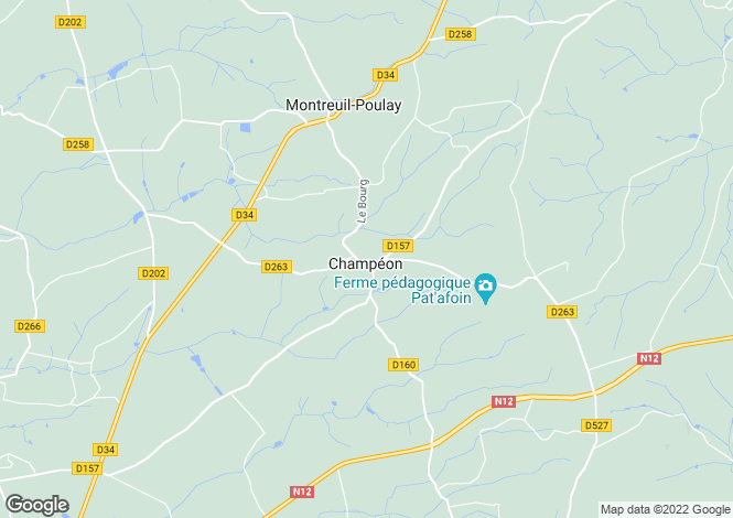 Map for Pays de la Loire, Mayenne, Champeon