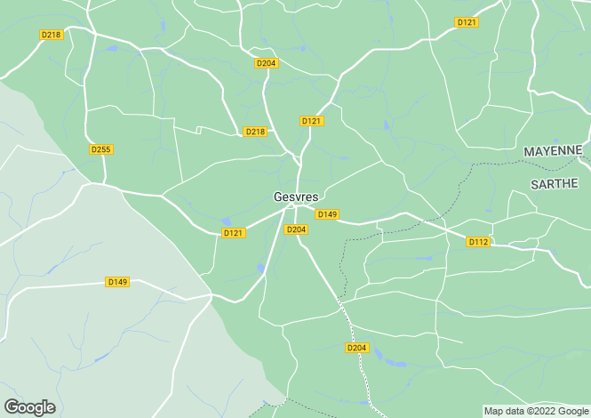 Map for gesvres, Mayenne, France