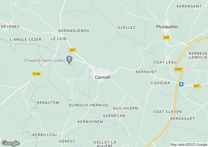 Map for Carnoët ,Brittany ,France