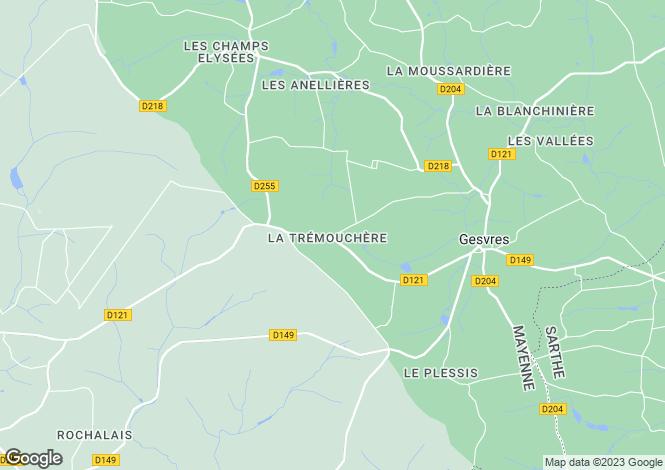 Map for Gesvres, Mayenne, Pays de la Loire