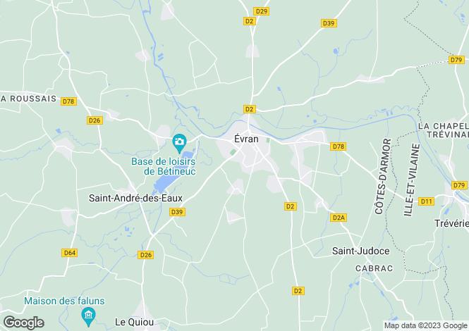 Map for evran, Côtes-d'Armor, France