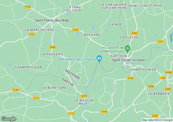 Map for St-Pierre-des-Nids, Mayenne, Pays de la Loire