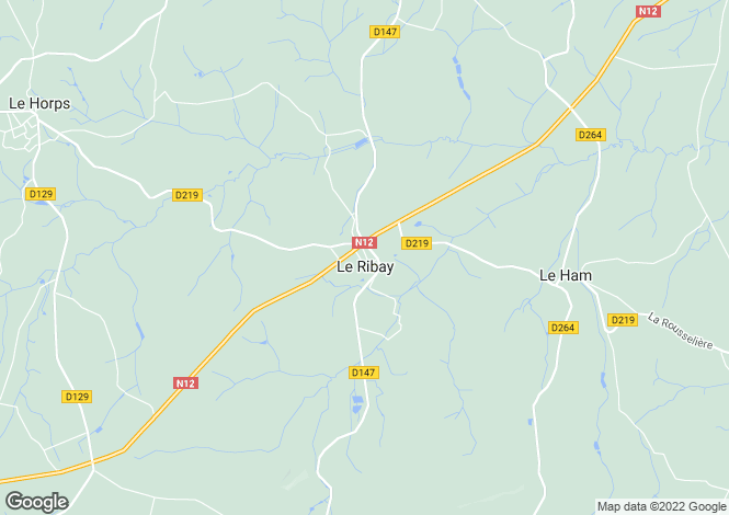 Map for Le Ribay, Mayenne, 53640, France