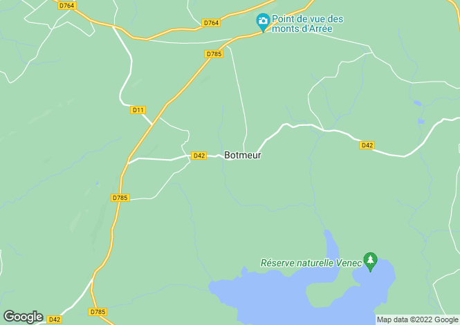 Map for Botmeur, Finistère, Brittany