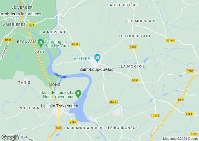 Map for Pays de la Loire, Mayenne, St-Loup-du-Gast