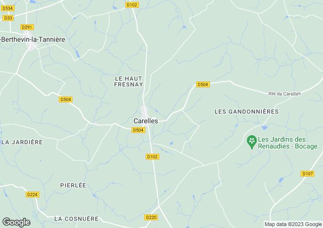 Map for CARELLES, 53120, France