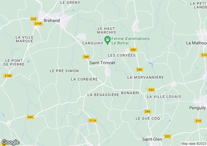 Map for st-trimoel, Côtes-d'Armor, France