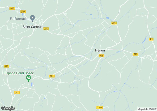 Map for henon, Côtes-d'Armor, France