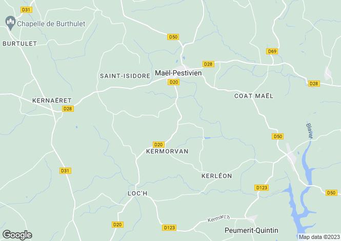 Map for Maël-Pestivien, 22160, France