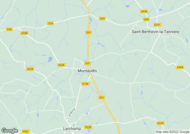 Map for Montaudin ,Pays de la Loire ,France