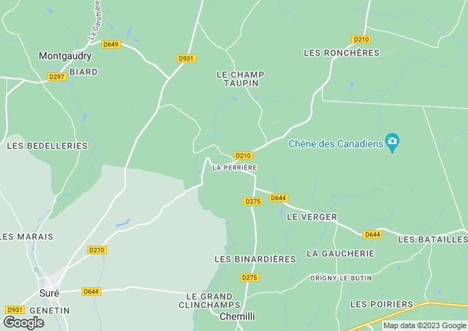 Map for Normandy, Orne, La Perrière