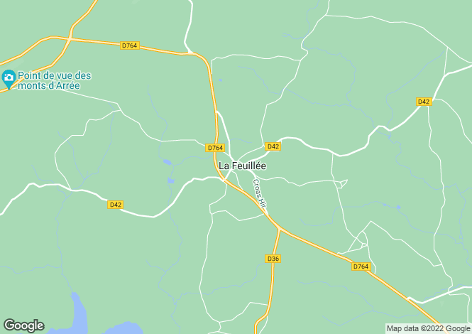 Map for La Feuillée, Finistère, Brittany