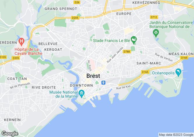 Map for BREST, Bretagne