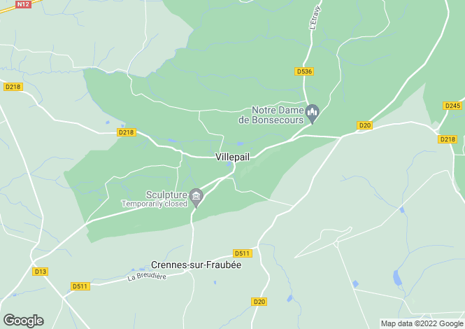 Map for villepail, Mayenne, France