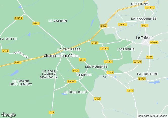 Map for Centre, Eure-et-Loir, Champrond-en-Gâtine