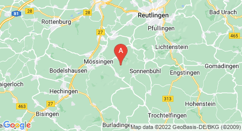 map of Filsenberg (Germany)