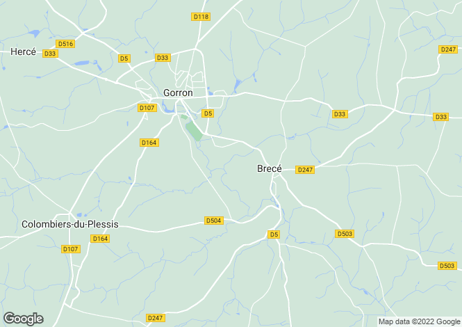 Map for Pays de la Loire, Mayenne, Brecé