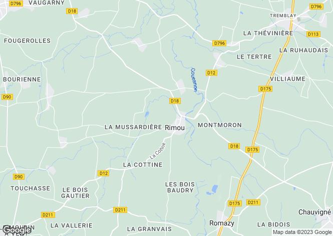 Map for rimou, Ille-et-Vilaine, France