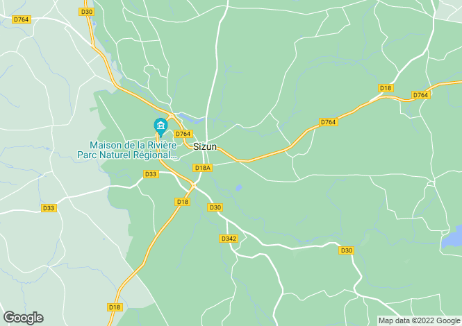 Map for SIZUN, 29450, France