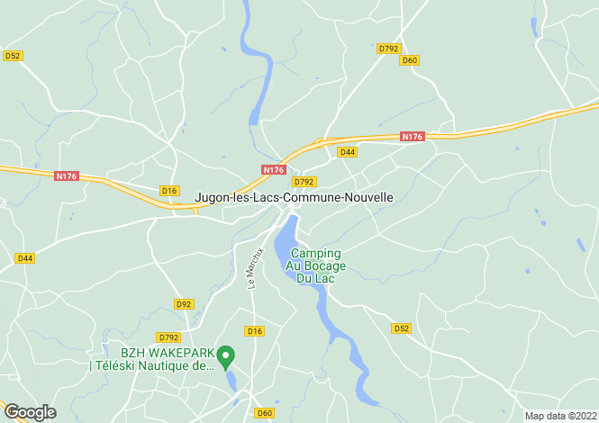 Map for jugon-les-lacs, Côtes-d'Armor, France