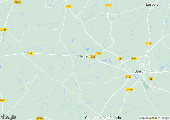 Map for herce, Mayenne, France