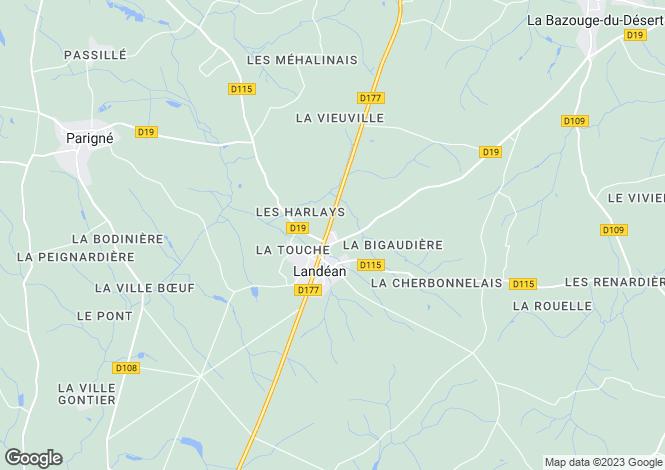 Map for Landean, Ille-et-Vilaine, 35133, France