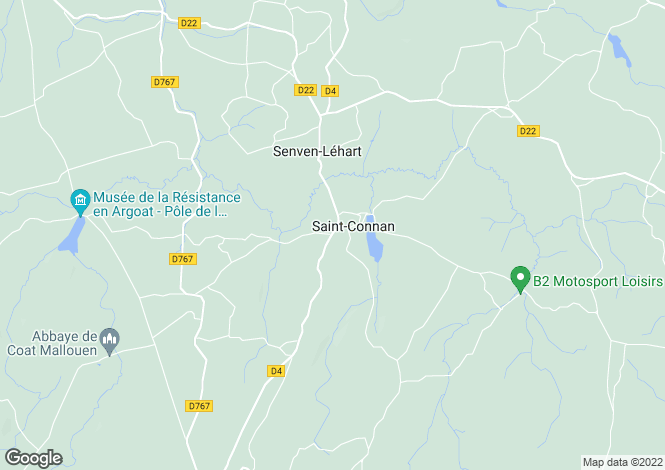 Map for Saint-Connan ,Brittany ,France