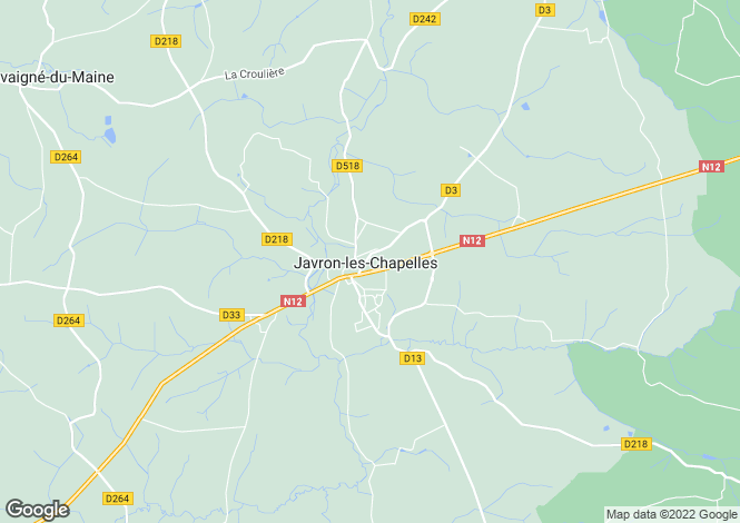 Map for javron-les-chapelles, Mayenne, France