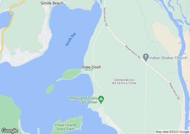 Map for Washington, Skagit County, La Conner