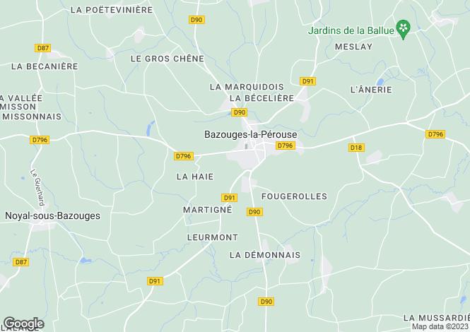 Map for Bazouges-la-Pérouse ,Brittany ,France