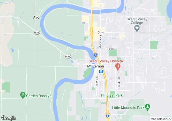 Map for Washington, Skagit County, Mount Vernon