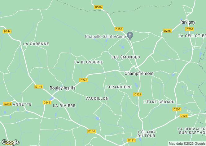 Map for Champfrémont, Mayenne, Pays de la Loire